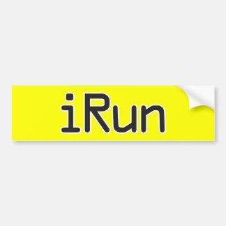 iRun - Black Bumper Sticker