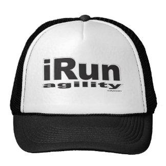 iRun Black Mesh Hats
