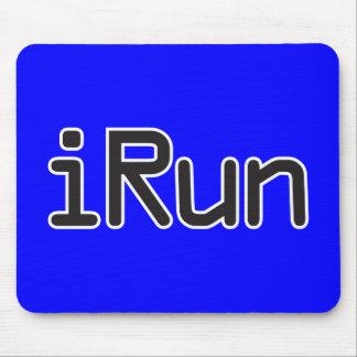 iRun - Black Mouse Pad