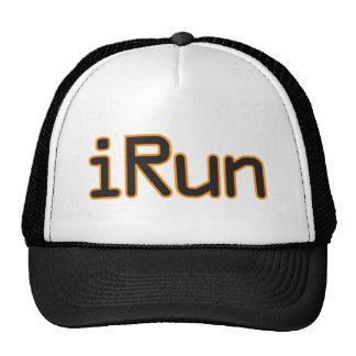 iRun - Black (Orange outline) Trucker Hats