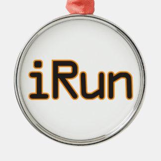 iRun - Black Orange outline Ornament
