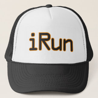 iRun - Black (Orange outline) Trucker Hat