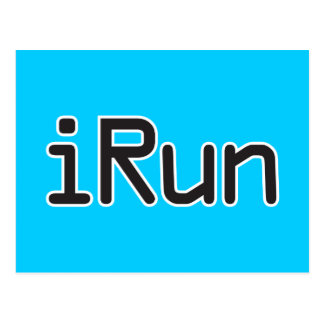 iRun - Black Postcard