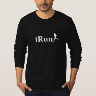iRun Black Running Long Sleeve Shirt for Men