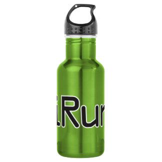 iRun - Black Stainless Steel Water Bottle