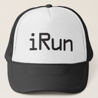 iRun - Black Trucker Hat