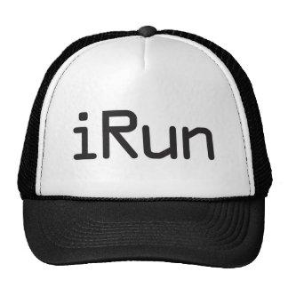 iRun - Black Trucker Hat
