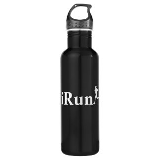 iRun Black & White for Men 24oz Water Bottle