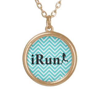 iRun Blue Chevron Necklace for Women
