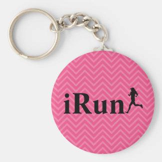 iRun Chevron Running Keychain for Girls