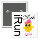iRun Chick 2 Inch Square Button