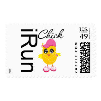 iRun Chick Postage Stamps