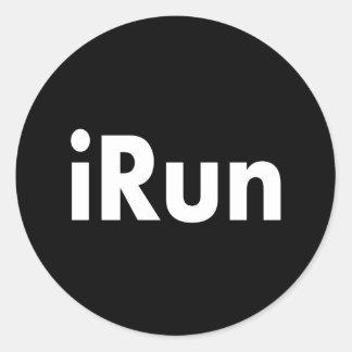 iRun Classic Round Sticker