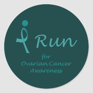 iRun for Ovarian Cancer Awareness Classic Round Sticker