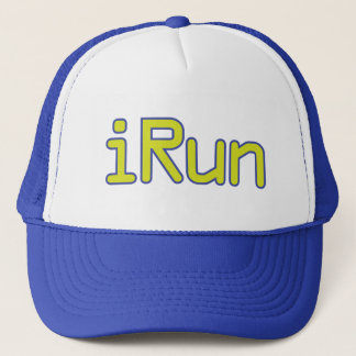 iRun - Lime (Blue outline) Trucker Hat