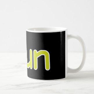 iRun - Lime (White outline) Coffee Mug