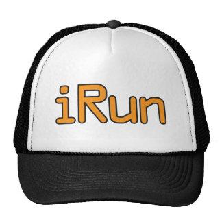 iRun - Orange (Black outline) Hat