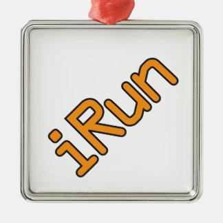 iRun - Orange Black outline Ornaments