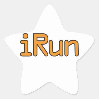 iRun - Orange (Black outline) Star Sticker