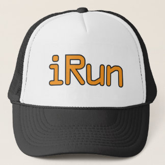 iRun - Orange (Black outline) Trucker Hat