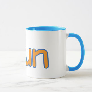 iRun - Orange (Blue outline) Mug
