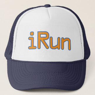 iRun - Orange (Blue outline) Trucker Hat