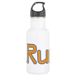 iRun - Orange (Blue outline) Water Bottle