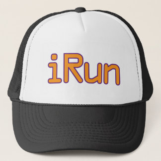 iRun - Orange (Purple outline) Trucker Hat