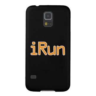iRun - Orange (White outline) Galaxy S5 Cover