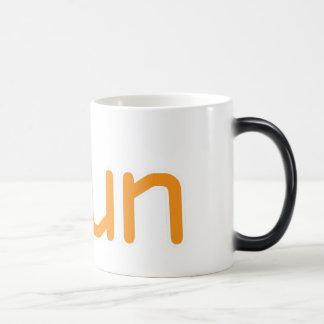 iRun - Orange (White outline) Magic Mug