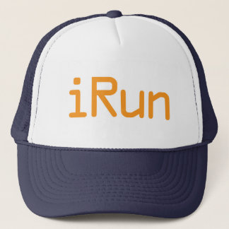 iRun - Orange (White outline) Trucker Hat