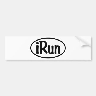 iRun Oval Bumper Sticker