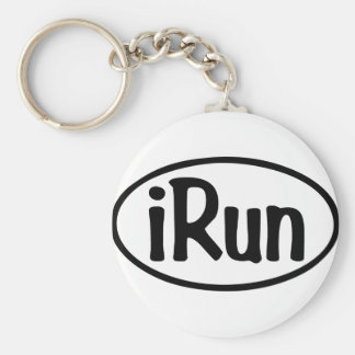 iRun Oval Keychain