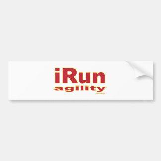 iRun Red Car Bumper Sticker