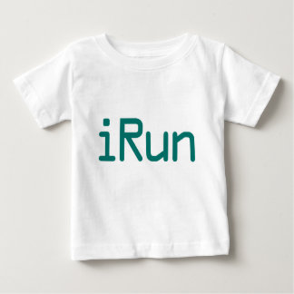 iRun - Teal (Black outline) Baby T-Shirt