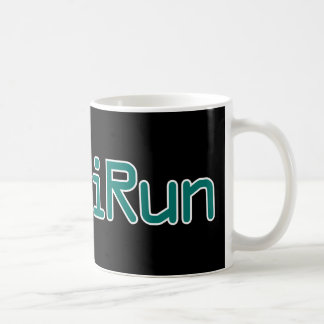 iRun - Teal (Black outline) Coffee Mug