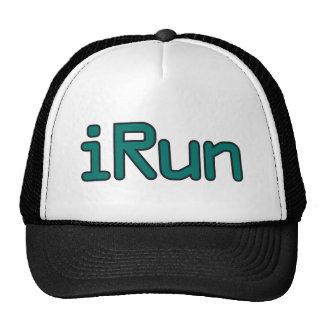 iRun - Teal (Black outline) Trucker Hat
