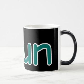 iRun - Teal (Black outline) Magic Mug
