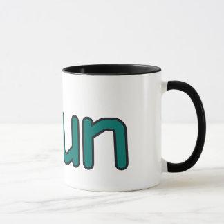 iRun - Teal (Black outline) Mug