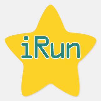 iRun - Teal (Black outline) Star Sticker