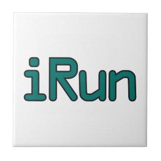 iRun - Teal (Black outline) Tiles