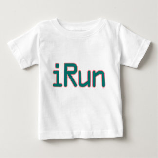 iRun - Teal (Pink outline) Baby T-Shirt