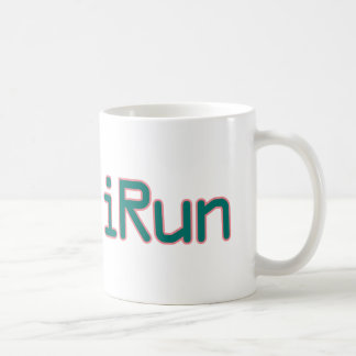iRun - Teal (Pink outline) Coffee Mug