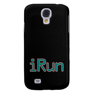 iRun - Teal (Pink outline) Galaxy S4 Cover