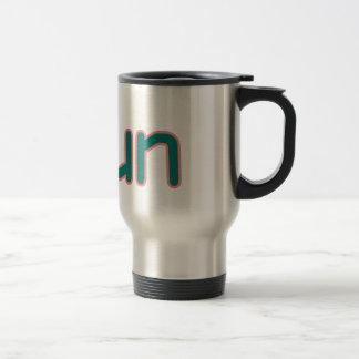 iRun - Teal (Pink outline) Travel Mug