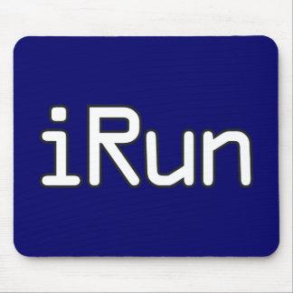 iRun - White Mouse Pad