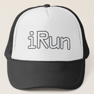 iRun - White Trucker Hat
