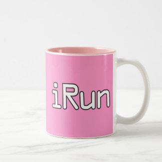 iRun - White Two-Tone Coffee Mug