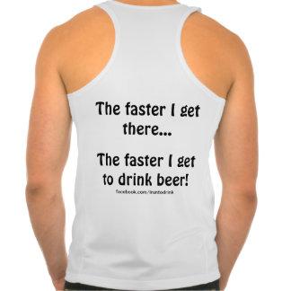 """IRunToDrink Tank Top - """"I get to drink beer!"""""""