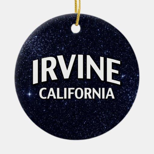 Irvine California Adorno Navideño Redondo De Cerámica